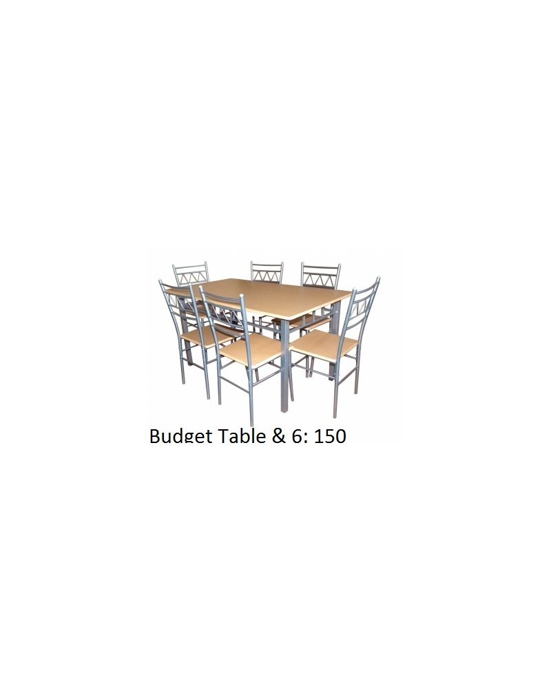 Budget Dining Set & 6 Chairs